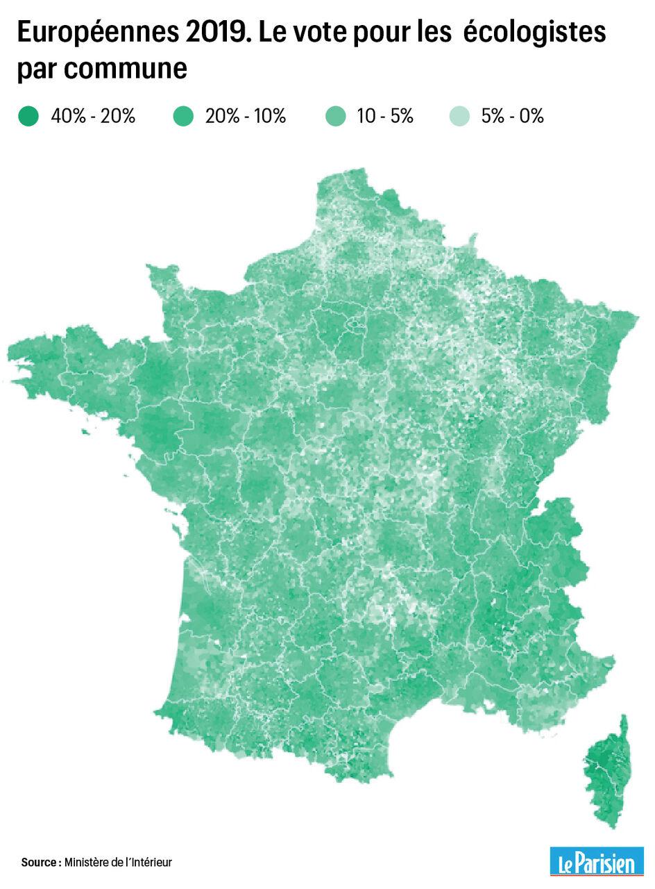 Carte Corse Osani.Europeennes De La Corse A La Bretagne La Carte Du Vote