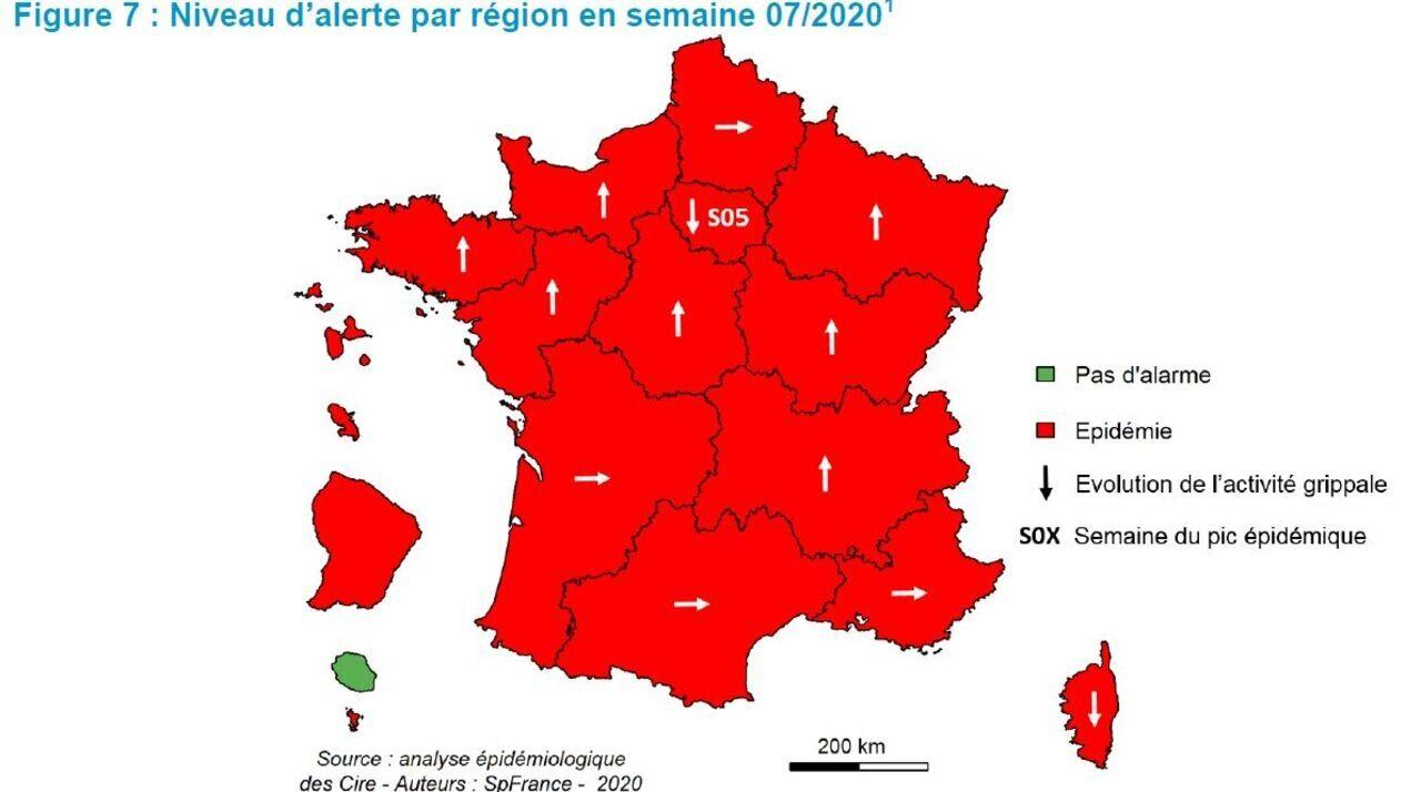 carte epidemie grippe 2020 Grippe : l'épidémie a atteint son pic en Ile de France   Le Parisien