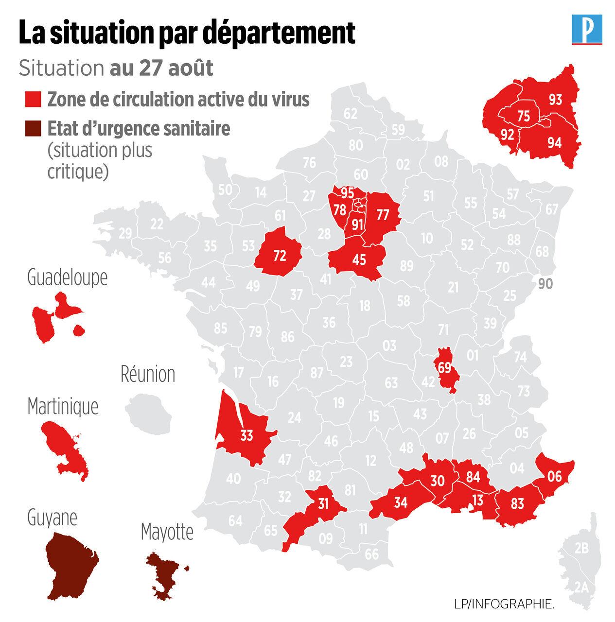 Coronavirus 19 Nouveaux Departements En Zone Rouge 21 Au Total Le Parisien