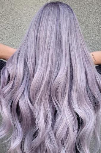 Färben lila haare Ombre Hair