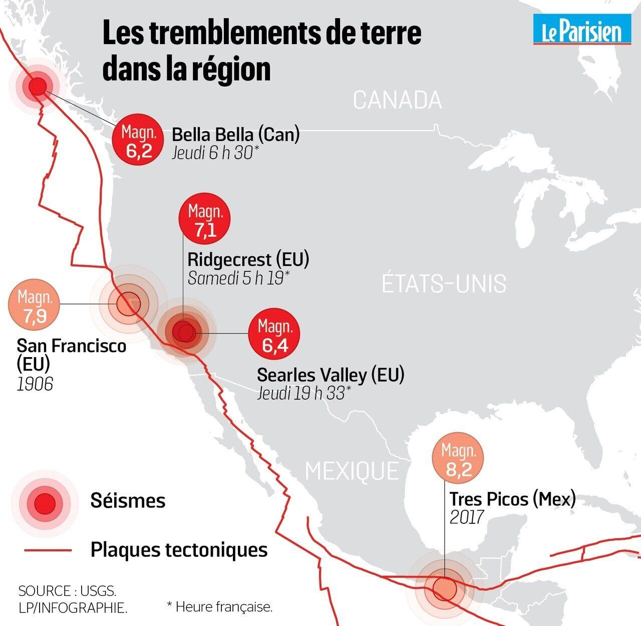faille san andreas carte Séismes en Californie : «La faille de San Andreas va t elle se