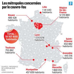 Covid 19 Un Couvre Feu De 21h A 6h En Ile De France Et Dans 8 Metropoles Des Samedi Le Parisien