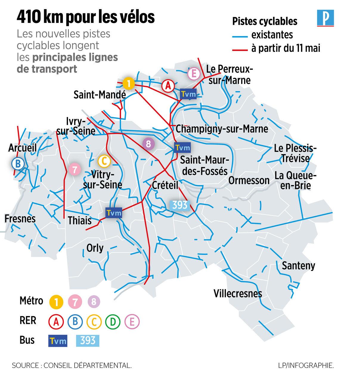 De Plus En Plus De Cyclistes Sur Les Coronapistes Du Val De Marne Le Parisien