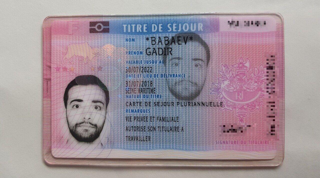 carte pluriannuelle vie privée et familiale Gadir, le jeune étudiant azéri, a obtenu sa carte de séjour   Le