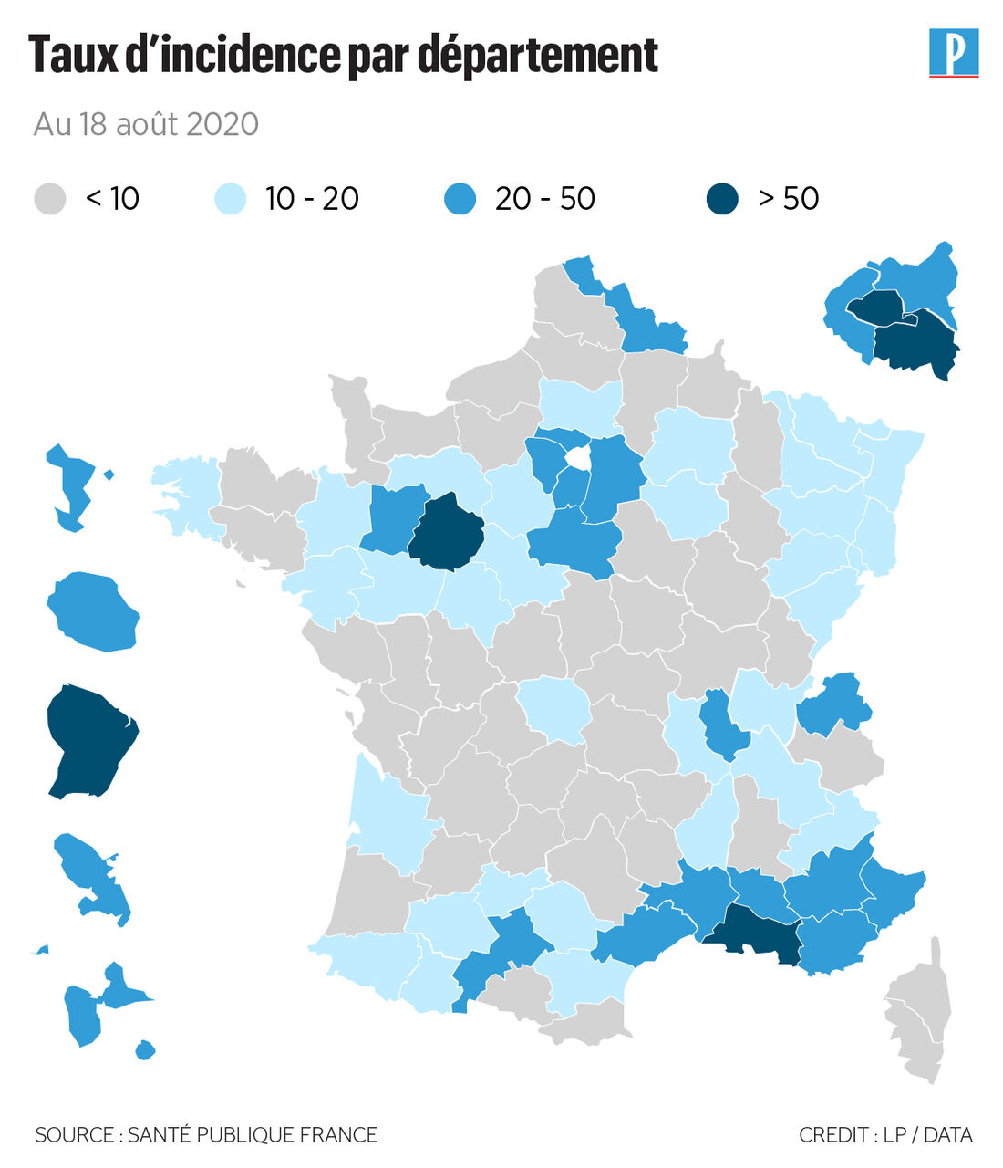 Nouveaux Cas De Covid 19 Quels Departements Sont Les Plus Concernes Le Parisien