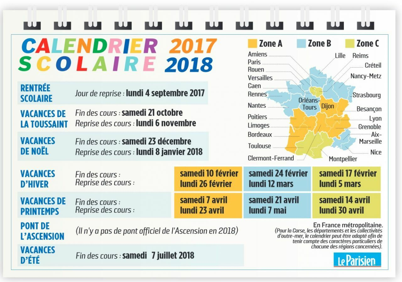 Bien Divorcer Calendrier 2019.Calendrier Scolaire Ou Est Passe Le Pont De L Ascension