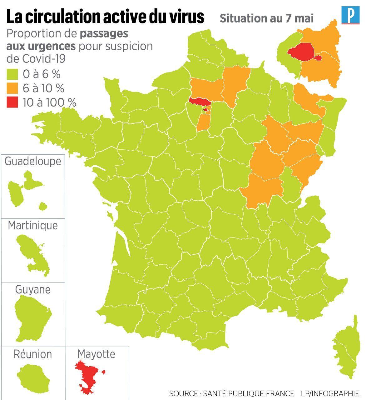 Coronavirus Votre Departement Est Il En Vert Ou Rouge Voici La Carte Definitive Du Deconfinement Le Parisien