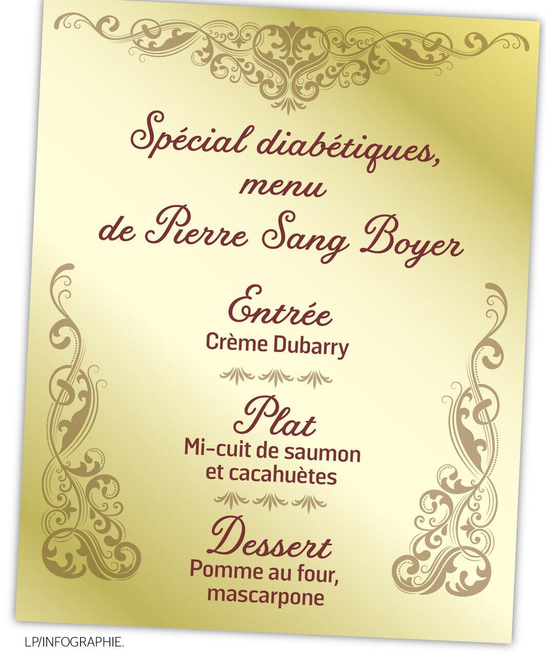Idee Repas Reveillon Du Jour De L An.Nouvel An Le Menu Special Diabetiques De Pierre Sang Boyer