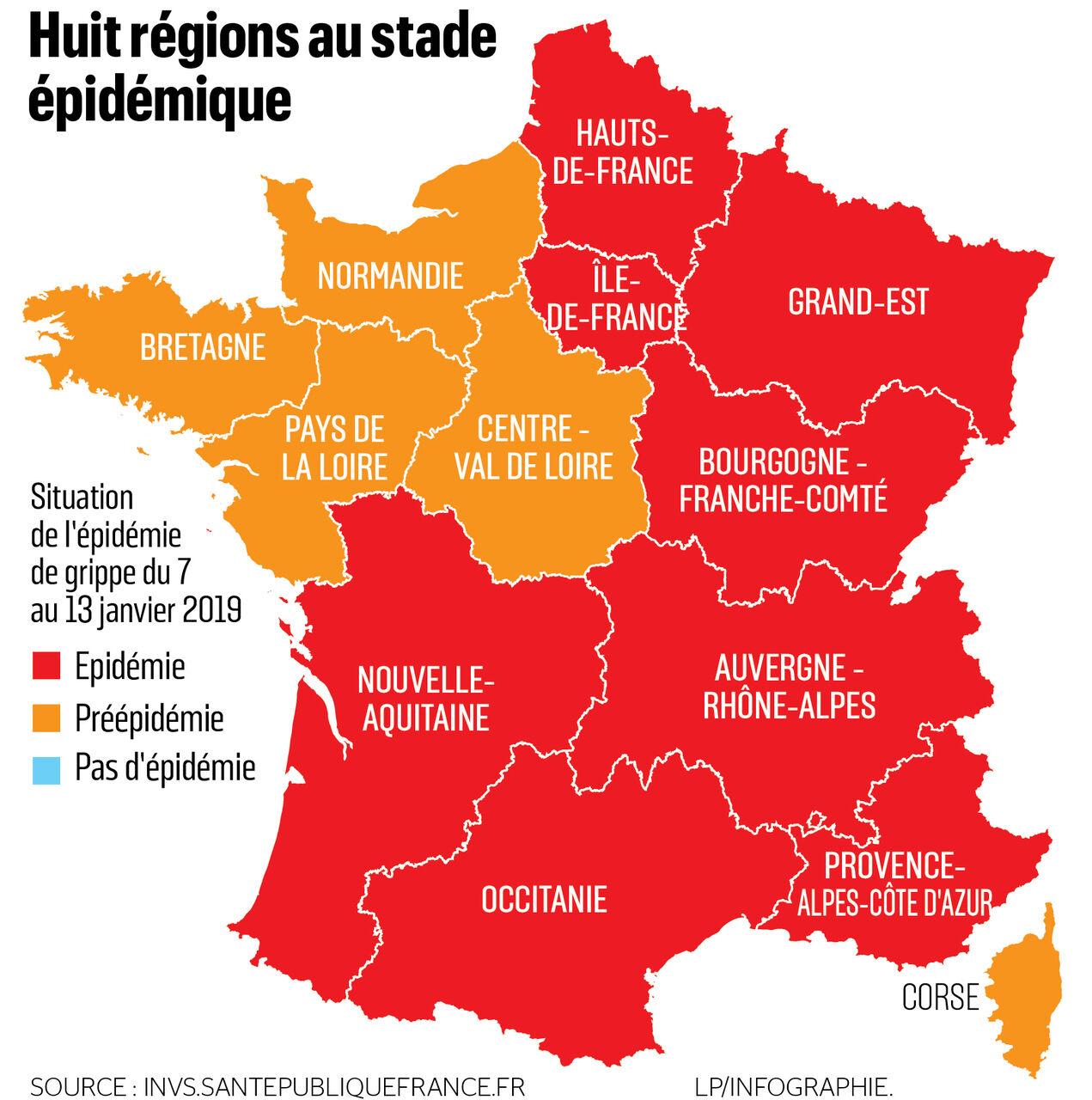 Grippe Lépidémie Sétend Désormais à Huit Régions Le