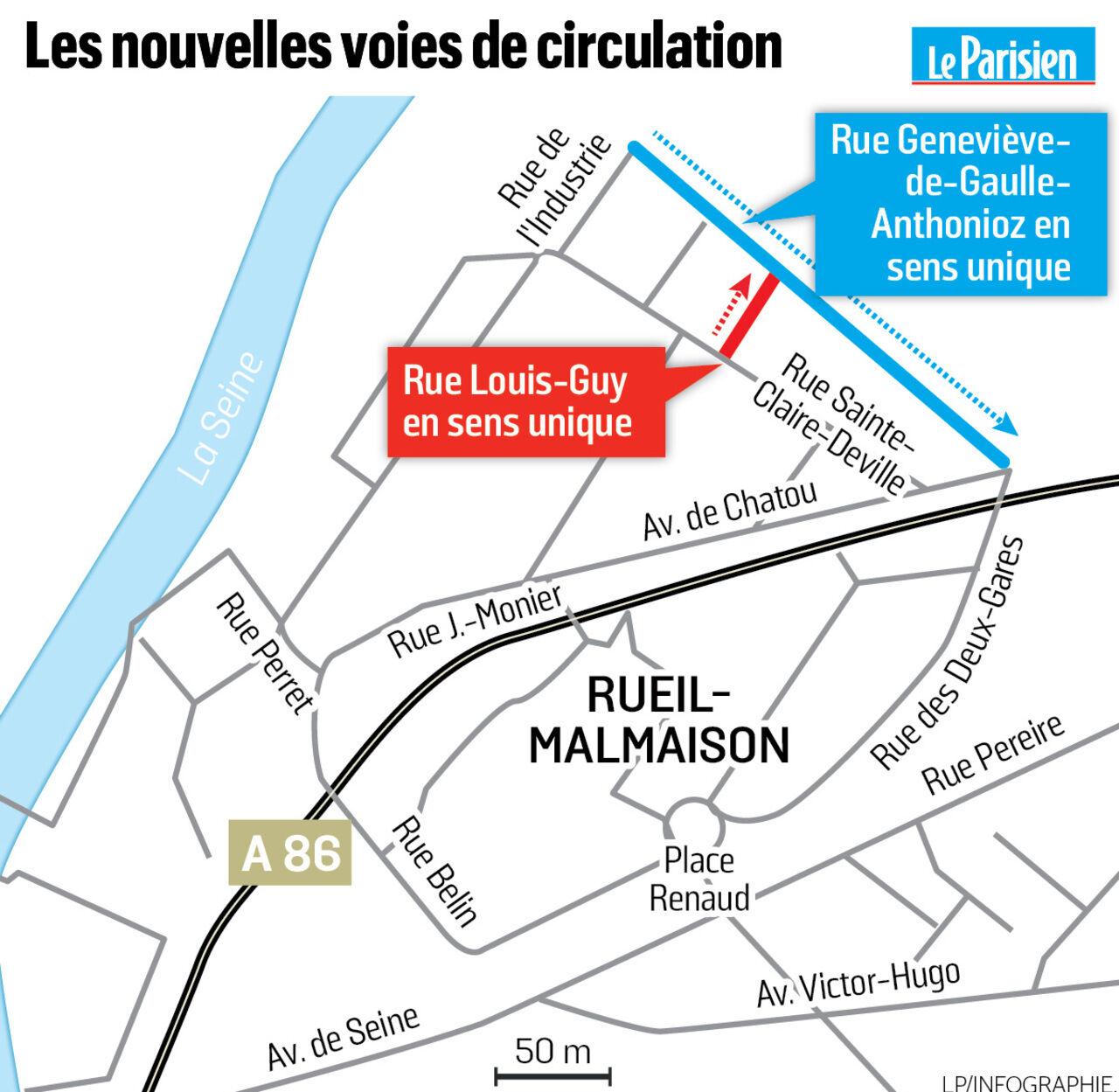Rueil Malmaison Deux Nouvelles Rues Pour Casser Les Bouchons Le Parisien