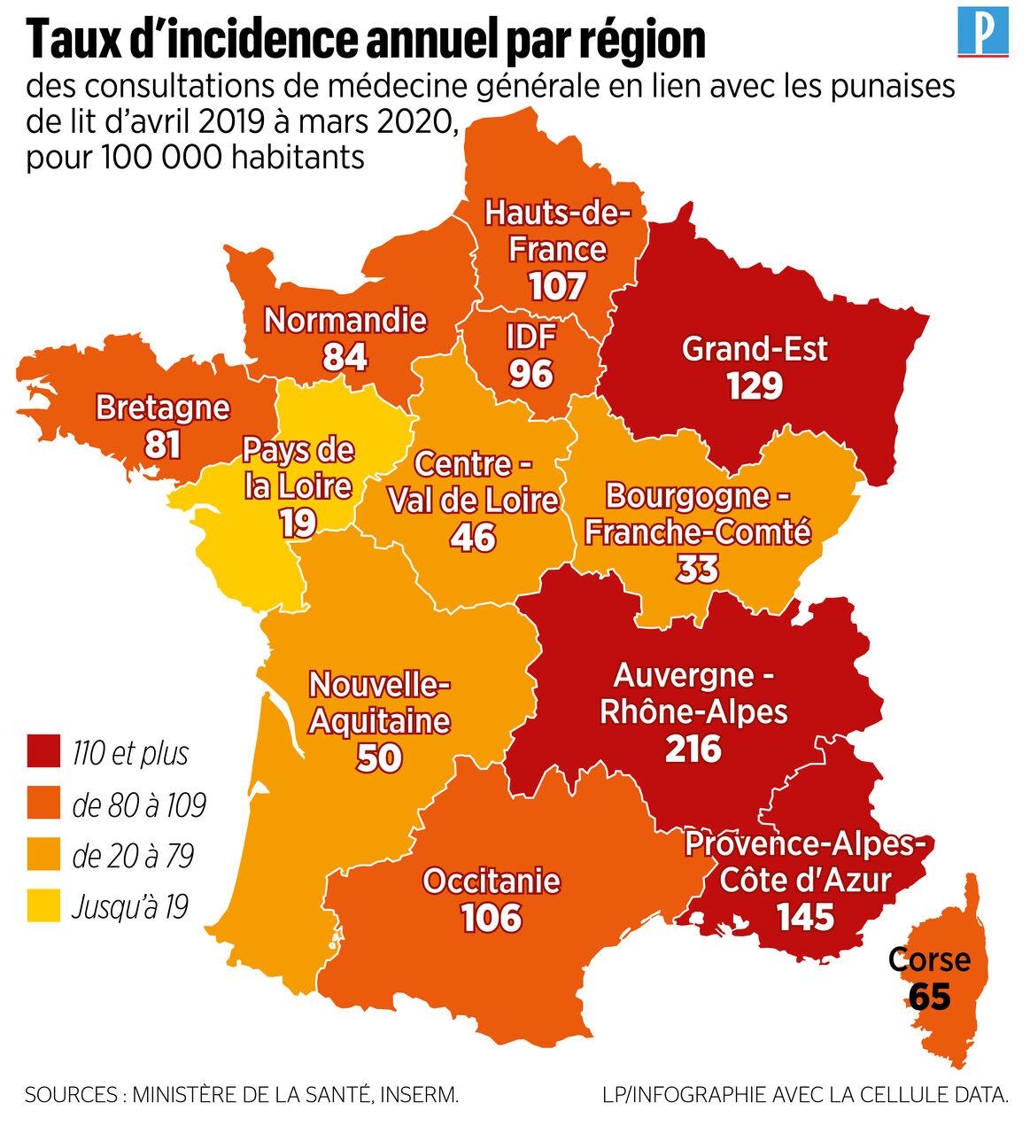 Punaises De Lit Voici La Carte Des Regions De France Les Plus Touchees Le Parisien