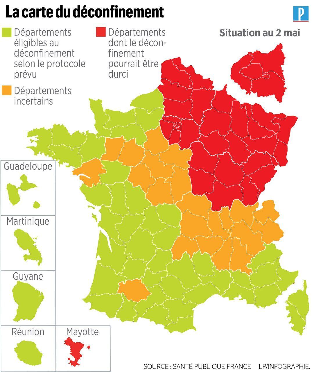 Coronavirus 166 Nouveaux Deces Une Nouvelle Carte Pour Le Deconfinement Le Parisien