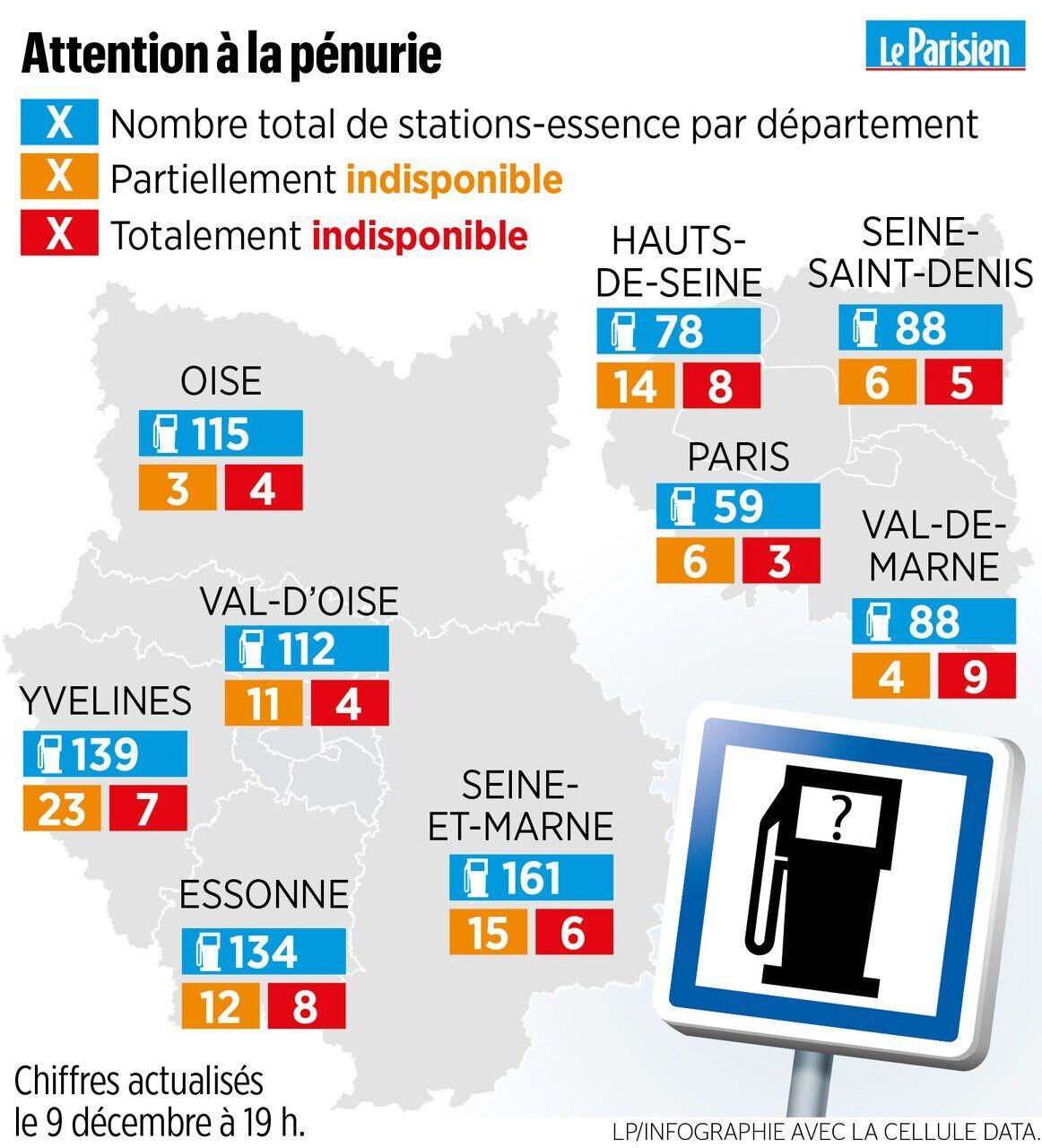 Ile De France La Course Aux Stations Ravitaillees En Essence Le Parisien