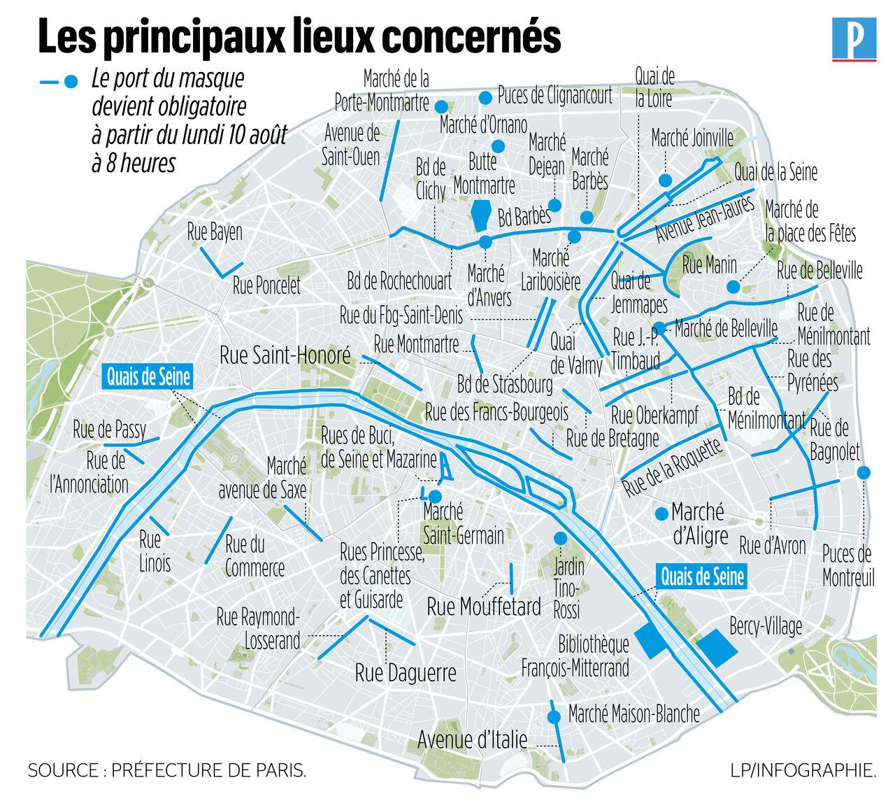 Masque Obligatoire A Partir De Lundi Les Zones Concernees En Ile De France Le Parisien