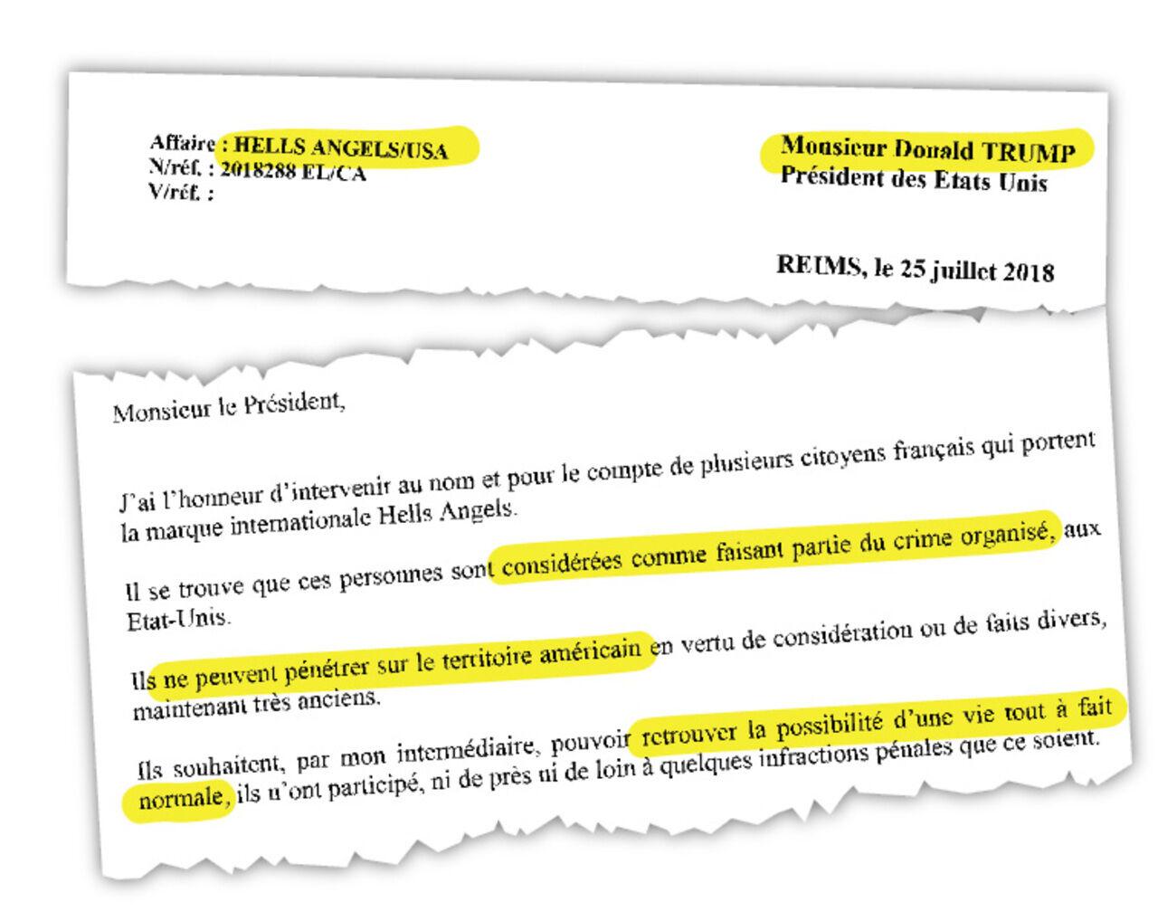 Les Hells Angels français écrivent à Donald Trump - Le Parisien