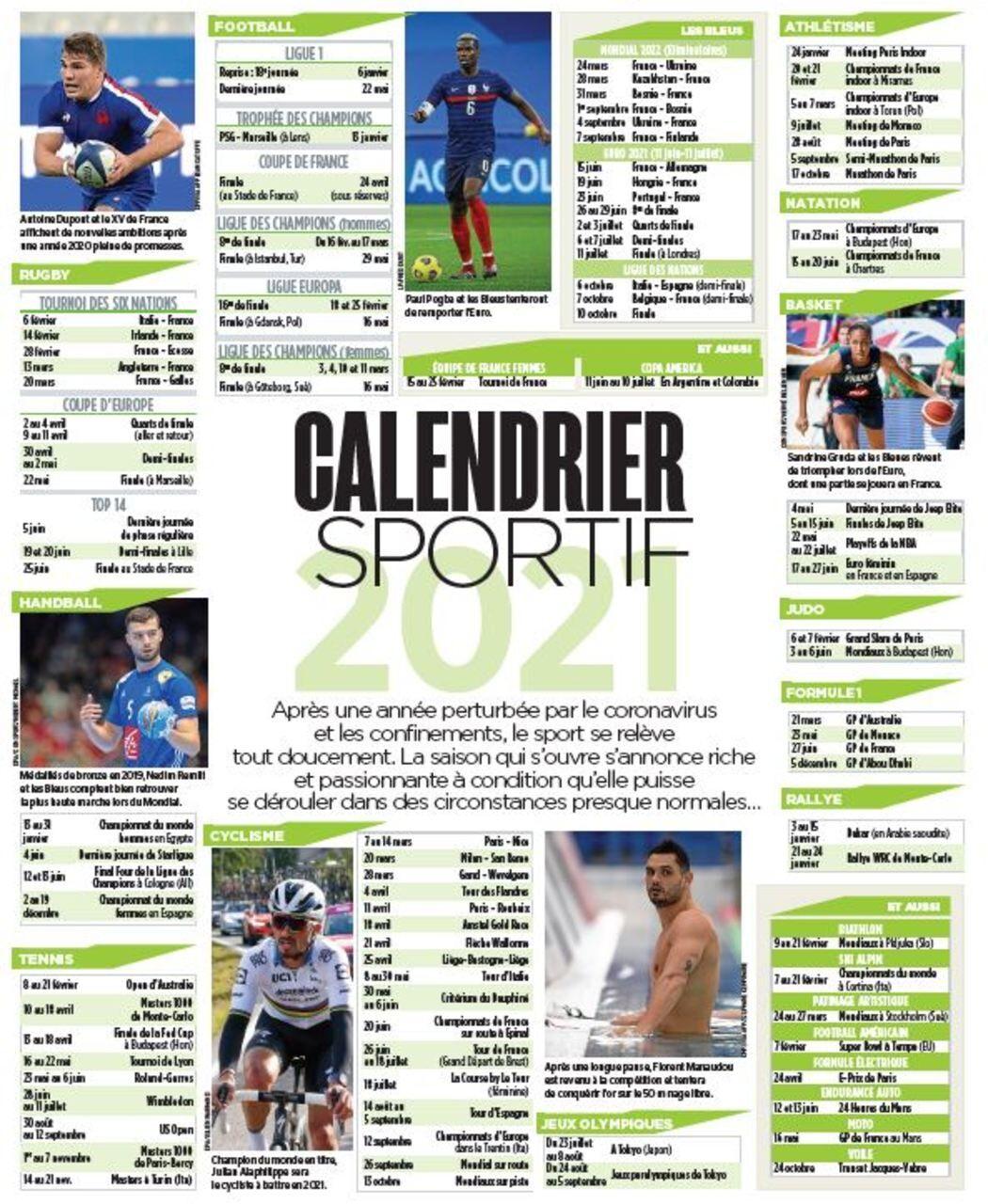 Le Calendrier Sportif 2021